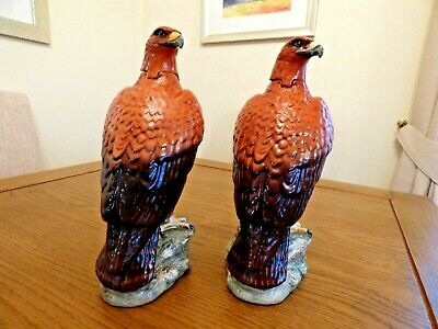 Beswick. Made In England. Pair Of Golden Eagles Beneagles Decanters 1969 • 100£