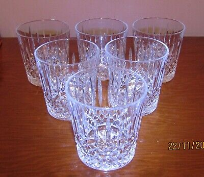 6 X Beautiful Crystal Whisky Tumblers. • 22£