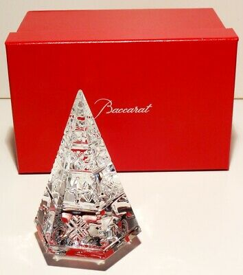 Baccarat Crystal Courchevel Fir Christmas Tree Clear 5 1/8  ~ In Original Box  • 124.34£
