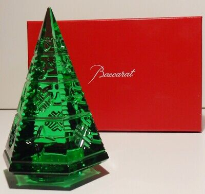 Baccarat Crystal Courchevel Fir Christmas Tree Green 5 1/8  ~ In Original Box  • 146.28£