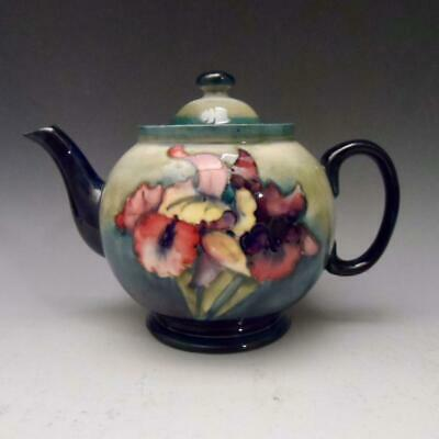 Moorcroft Orchid Teapot In Excellent Condition With Superb Glaze • 125£