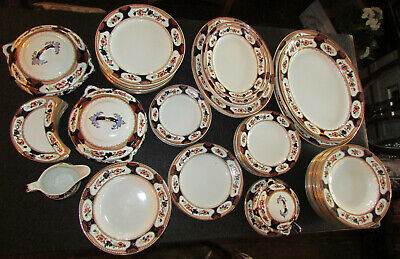Vintage Losol Ware  Rosslyn  Keeling & Co  Dinner Service Approx 84 Pieces 1920s • 50£