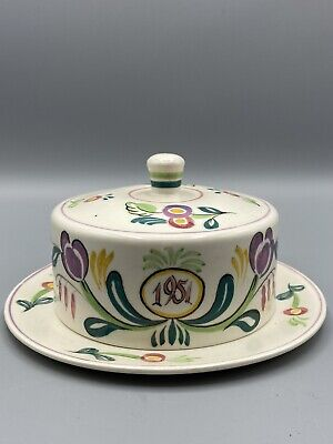 Poole Pottery 1951 Coronation Cheese Dish And Cover • 95£