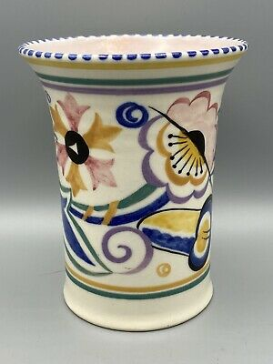 Poole Pottery Traditional Fl Pattern Vase - Unusual! • 9.95£
