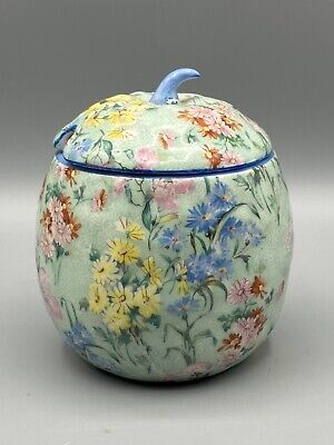 Shelley Melody Chintz Pattern Preserve Pot And Cover 8809 • 14.95£