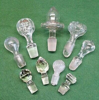 Job Lot Of  Vintage Glass Stoppers~Decanter/Perfume/Medicine. • 4.99£