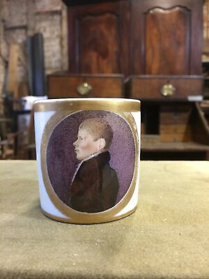 Regency Porcelain Coffee Can With Portrait • 0.99£