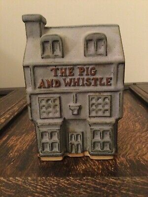 Tremar Cornish Pottery Stoneware Money Box 'The Pig And Whistle' Pub • 5£