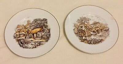 Two Fenton China  Decorated Plates  • 4£