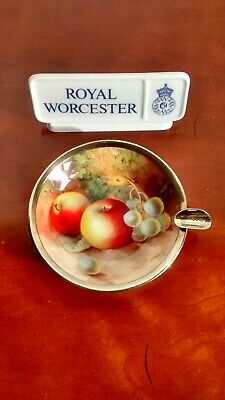 Royal Worcester Hand Painted Fruit Ash Tray Signed H. Ayrton 1931 • 100£