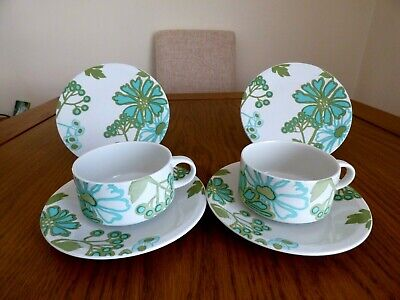 Villeroy And Boch Design Scarlet Pair Of 2 Cups, 2 Saucers And 2 Tea Plates • 25£