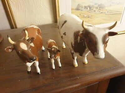 Superb  Beswick Set Of Ayrshire  Cattle Cow,bull And Calf  • 185£