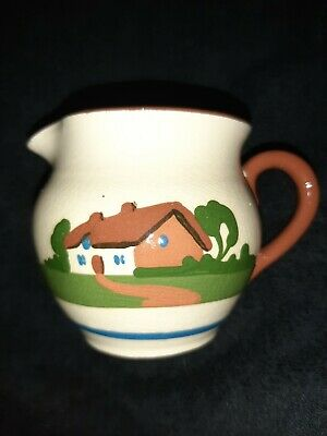 Torquay Pottery Motto Ware 8cm Jug  Waste Not Want Not  • 15£