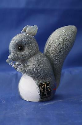 Langham Glass Crystal Hand-made Small Grey Squirrel Figure New / Boxed • 42.95£
