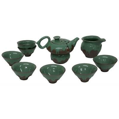 Chinese Green Iced Luxury Tea Set With Jug And Strainer - Gift Boxed • 55£