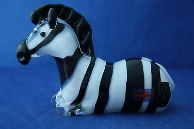 Langham Glass Crystal Hand Made Zebra Figurine New / Boxed • 87.95£