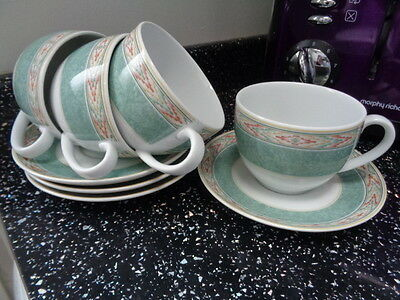 Wedgwood - Aztec Cups And Saucers  X 4 • 24£