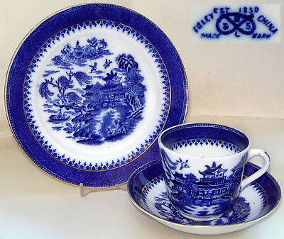 Foley China  Robinson & Son: 'Mandarin' Willow Pattern Trio (Cup/Saucer/Plate) • 9.99£