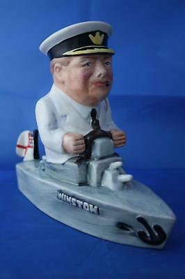 Bairstow Manor Collectables Winston Churchill Sitting In A Boat Wwii Figure • 79.95£