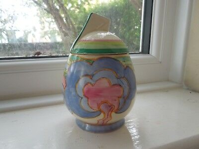 Lovely Clarice Cliff Oasis Preserve Pot - Stunning! • 200£