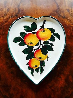 Wemyss Ware R.H&S Pottery Heart Shaped Dish  Apples  1895-1920 • 2,000£
