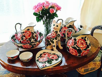Wemyss Ware T.Goode & Co Jug & Bowl   Cabbage Roses   Circa 1890 • 1,195£