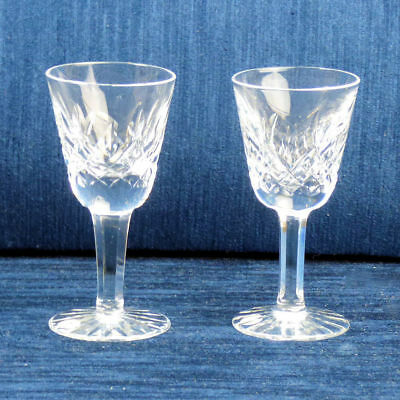Fine Waterford Pair Of Liqueur 'lismore' Glasses • 28£