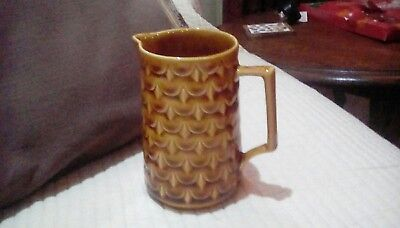 Withernsea Eastgate Pottery Milk Jug In Pineapple Pattern. • 6.99£