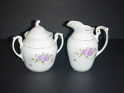 Antique KPM Sugar & Creamer Set Made Germany C. 1800's • 58.61£