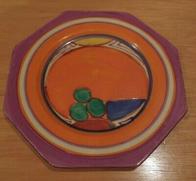 Lovely Clarice Cliff Melons Octagonal Tea Plate • 150£