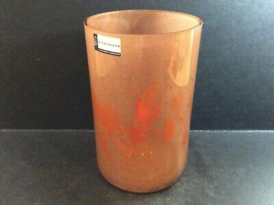 Vintage Strathearn Scottish Glass Vase Approx. 6inches Tall, Rare Shape • 55£