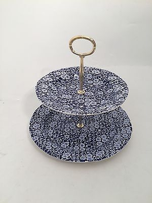 Calico 2 Tier Cake Stand (Large) By Burleigh - Burgess & Leigh • 37.50£