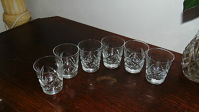 Set Of Four Matching Tumblers Crystal Cut Glasses Whiskey Glasses • 35.99£