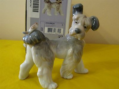 """RARE LLADRO Terrier Dog With Bird On Tail """"Unexpected Visit"""" #6829 In VGC, BOXED • 145£"""