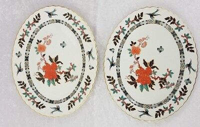 James Kent Old Foley Pair Serving Platters Plate Eastern Glory Pattern 14  X 11  • 22.95£