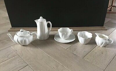 Vintage White Dainty Shelley China 6 Pieces • 85£