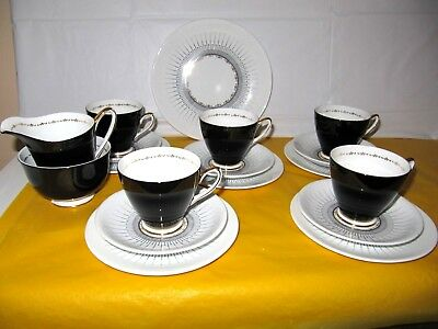 Vintage WINDSOR China Gold  Zodiak  Part Tea Set For 5 • 35£