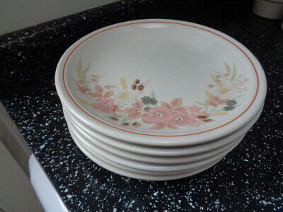Boots Hedge Rose Side Plates X 6 • 25£