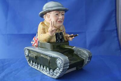 Bairstow Manor Collectables Winston Churchill Sitting In A Tank Wwii Figure • 89.95£