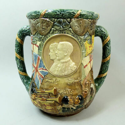 Royal Doulton Ltd Edition George V & Mary Large Pottery Commemorative Loving Cup • 365£