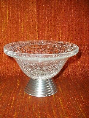 Aluminium Crackle Glass Bowl.  • 5.99£