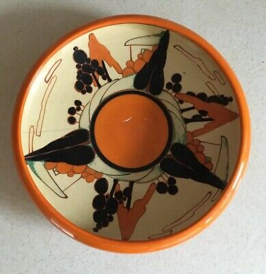 Clarice Cliff Orange Trees And House Fruit Bowl - Stunning! • 285£