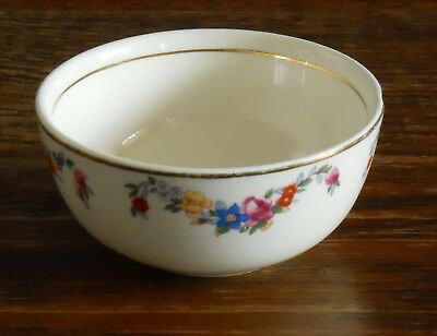 A Small Antique / Vintage Sugar Bowl Hand Retouched Floral Print Impressed  IND • 7.99£