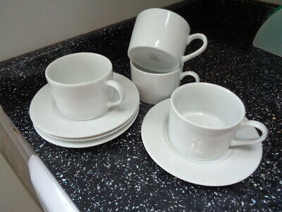 Marks And Spencer Pure Cups And Saucers X 4 • 24£