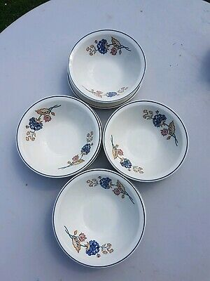 Boots Camargue  4 Cereal Bowls And 4 Side Plates Vintage • 29.99£