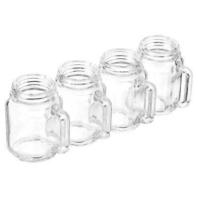 4, 8, 12x 35ml Mason Jar Shot Glasses Alcohol Vodka Shooter Drinking Games Party • 8.99£