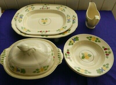 Adams Royal Ivory Titan Ware - Hand Painted Dinning Pieces • 12£