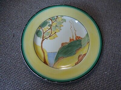 Lovely Clarice Cliff Secrets Yellow Banded Tea Plate - Stunning! • 275£