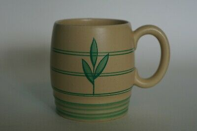 Grays Pottery - Tea Or Coffee Mug - Abstract Floral Motif - Pattern A3396 C.1936 • 14.95£