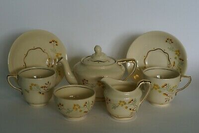Grays Pottery - Tea For Two Set - Abstract Floral Motif - Pattern A3853 C.1936 • 34.95£